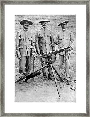 Mexican Rebel Commanders Framed Print by Underwood Archives