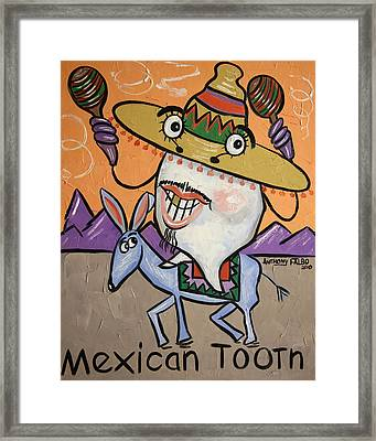 Mexican Tooth Framed Print by Anthony Falbo