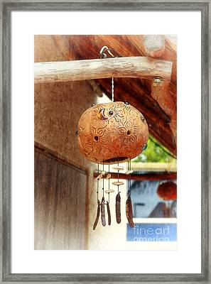Mexican Wind Chime Lamp Framed Print by Charline Xia