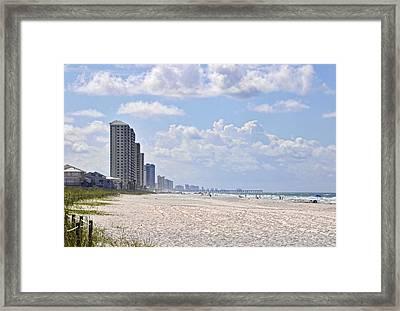 Mexico Beach Coastline Framed Print by Kenny Francis