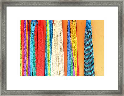 Mexico, Jalisco Colorful Hammocks Sold Framed Print by Jaynes Gallery