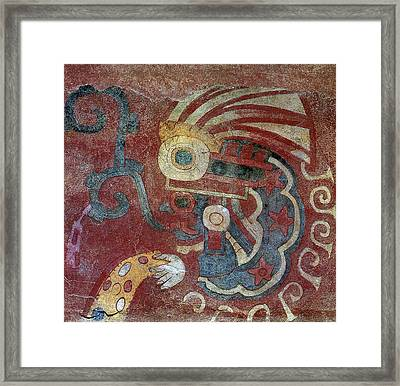 Mexico Teotihuacan Fresco Framed Print by Granger