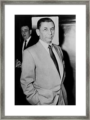 Meyer Lansky - The Mob's Accountant 1957 Framed Print by Mountain Dreams