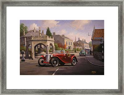 Mg Tc Sports Car Framed Print by Mike  Jeffries