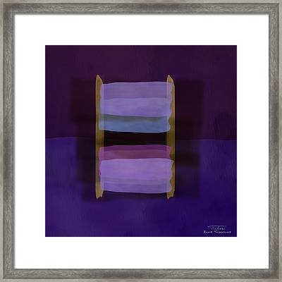 Mgl - Abstract Soft Blocks 02 II Framed Print by Joost Hogervorst