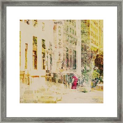 Mgl - City Collage - New York 08 Framed Print by Joost Hogervorst