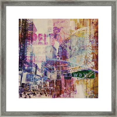 Mgl - City Collage - New York 09 Framed Print by Joost Hogervorst