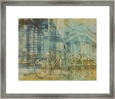 Mgl - City Collage - Paris 01 Framed Print by Joost Hogervorst