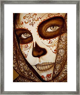 Mi Amor Detras Del Velo Framed Print by Al  Molina