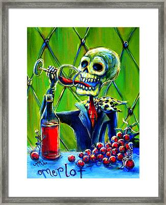 Mi Merlot Framed Print by Heather Calderon