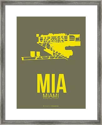 Mia Miami Airport Poster 1 Framed Print by Naxart Studio