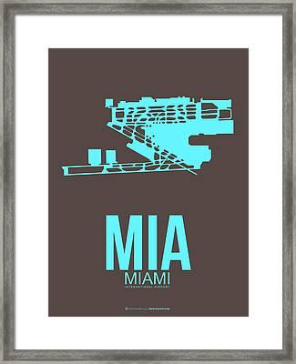 Mia Miami Airport Poster 2 Framed Print by Naxart Studio