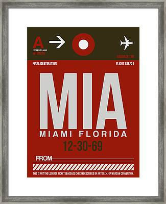 Mia Miami Airport Poster 4 Framed Print by Naxart Studio