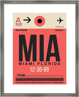 Miami Airport Poster 3 Framed Print by Naxart Studio