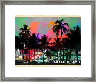 Miami Beach Framed Print by Marvin Blaine