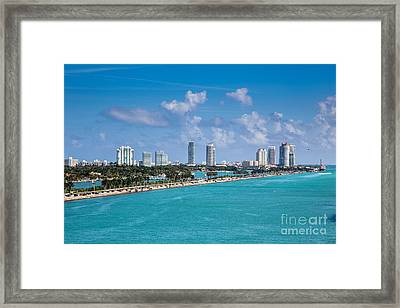 Miami Beach Skyline Framed Print by Rene Triay Photography