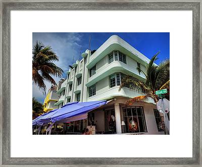 Miami - Deco District 007 Framed Print by Lance Vaughn