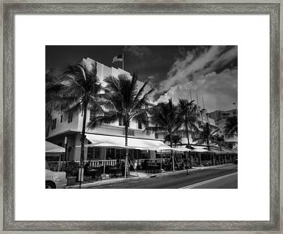Miami - Deco District 011 Framed Print by Lance Vaughn