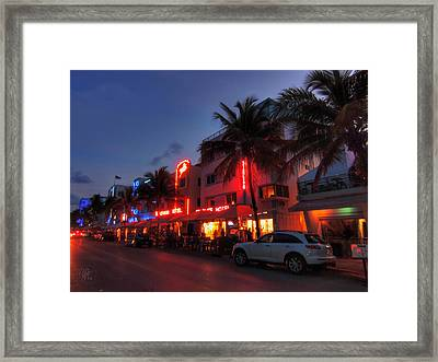 Miami - Deco District 015 Framed Print by Lance Vaughn