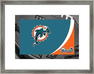 Miami Dolphins Framed Print by Joe Hamilton