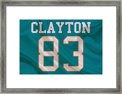 Miami Dolphins Mark Clayton Framed Print by Joe Hamilton