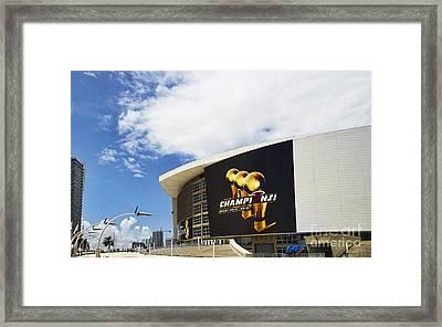 Miami Heat Home Framed Print by Eyzen Medina