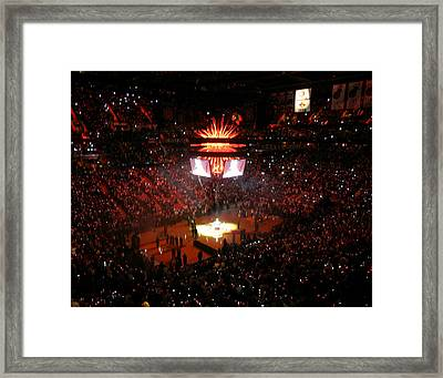 Miami Heat  Framed Print by J Anthony