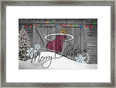 Miami Heat Framed Print by Joe Hamilton