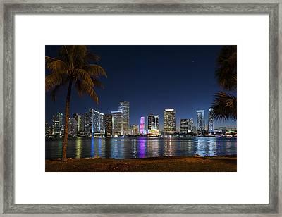 Miami Skyline Framed Print by Domenik Studer