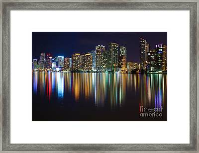 Miami Skyline IIi High Res Framed Print by Rene Triay Photography