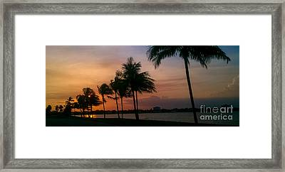 Miami Sunset Framed Print by Charlie Cliques