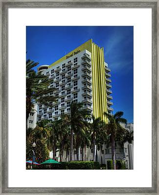 Miami - The James Royal Palm Framed Print by Lance Vaughn