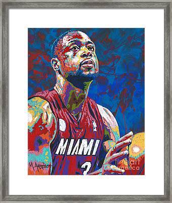 Miami Wade Framed Print by Maria Arango