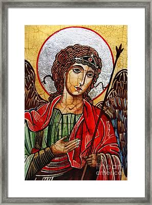 Michael Archangel Framed Print by Ryszard Sleczka