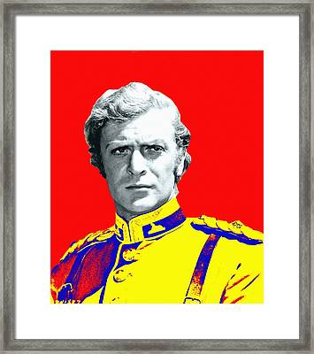 Michael Caine In Zulu Framed Print by Art Cinema Gallery