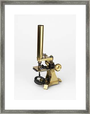 Michael Faraday's Microscope Framed Print by Science Photo Library