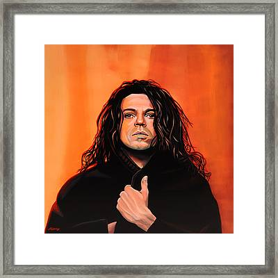 Michael Hutchence Painting Framed Print by Paul Meijering