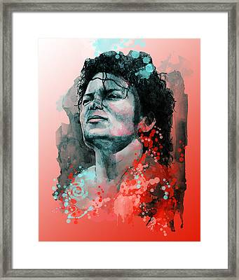 Michael Jackson 13 Framed Print by Bekim Art