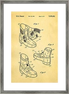 Michael Jackson Anti Gravity Boot Patent Art 1993 Framed Print by Ian Monk