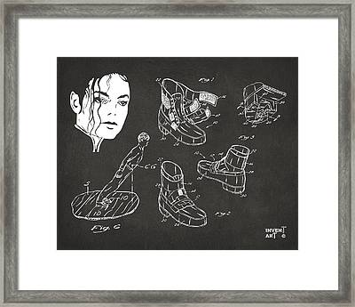 Michael Jackson Anti-gravity Shoe Patent Artwork Vintage Framed Print by Nikki Marie Smith