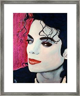 Michael Jackson Art - Full Color Framed Print by Bob Baker