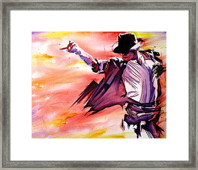 Michael Jackson-billie Jean Framed Print by Joshua Morton