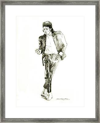 Michael Jackson Billy Jean Framed Print by David Lloyd Glover