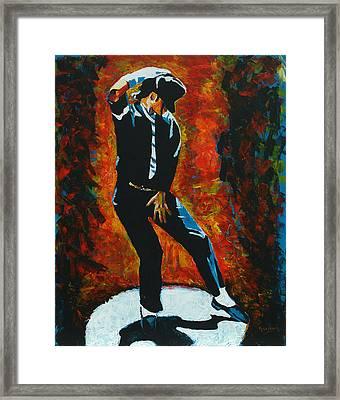 Michael Jackson Dancing The Dream Framed Print by Patrick Killian