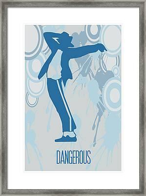 Michael Jackson Dangerous Poster Framed Print by Florian Rodarte