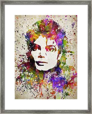 Michael Jackson In Color Framed Print by Aged Pixel