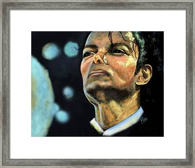 Michael Jackson Framed Print by Maria Schaefers
