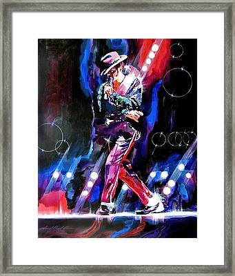Michael Jackson Moves Framed Print by David Lloyd Glover