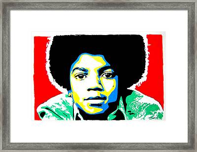 Michael Jackson Framed Print by Nancy Mergybrower