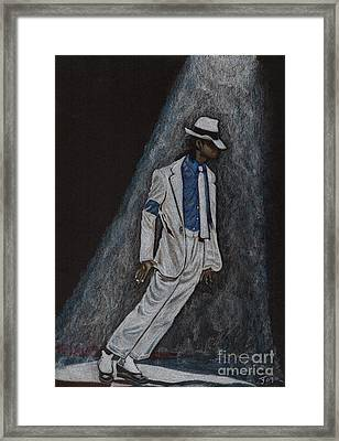 Michael Jackson Smooth Criminal Framed Print by Yvonne Johnstone